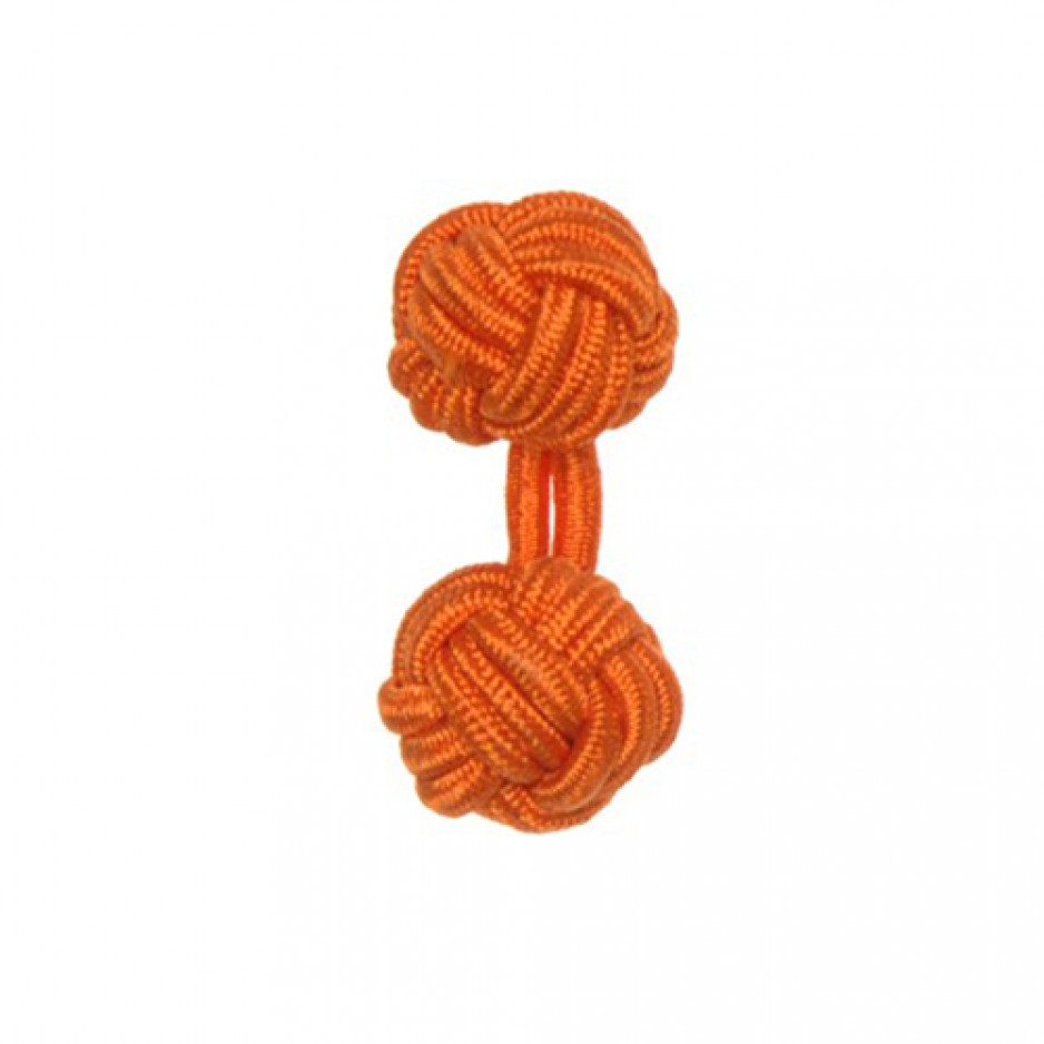 Boutons Manchette en Passementerie Orange