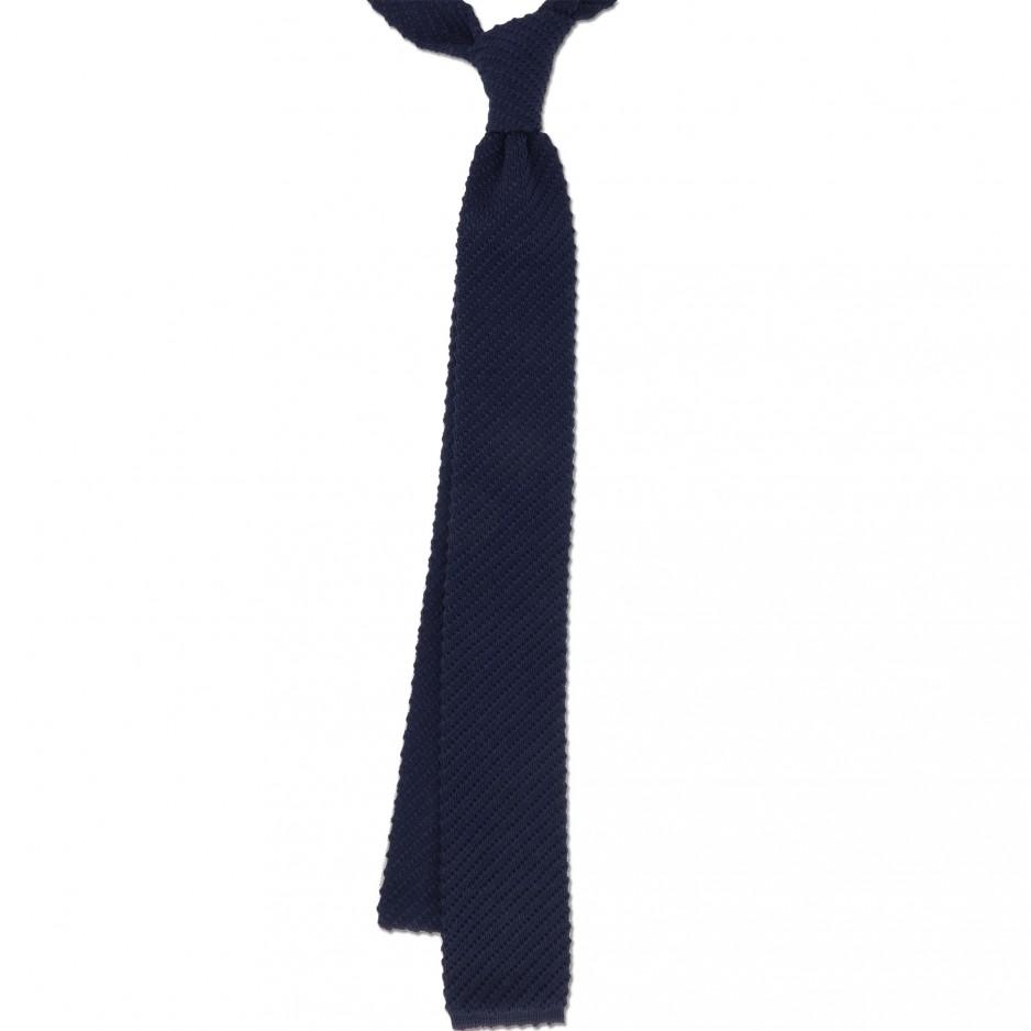Cravate Tricot Bleue