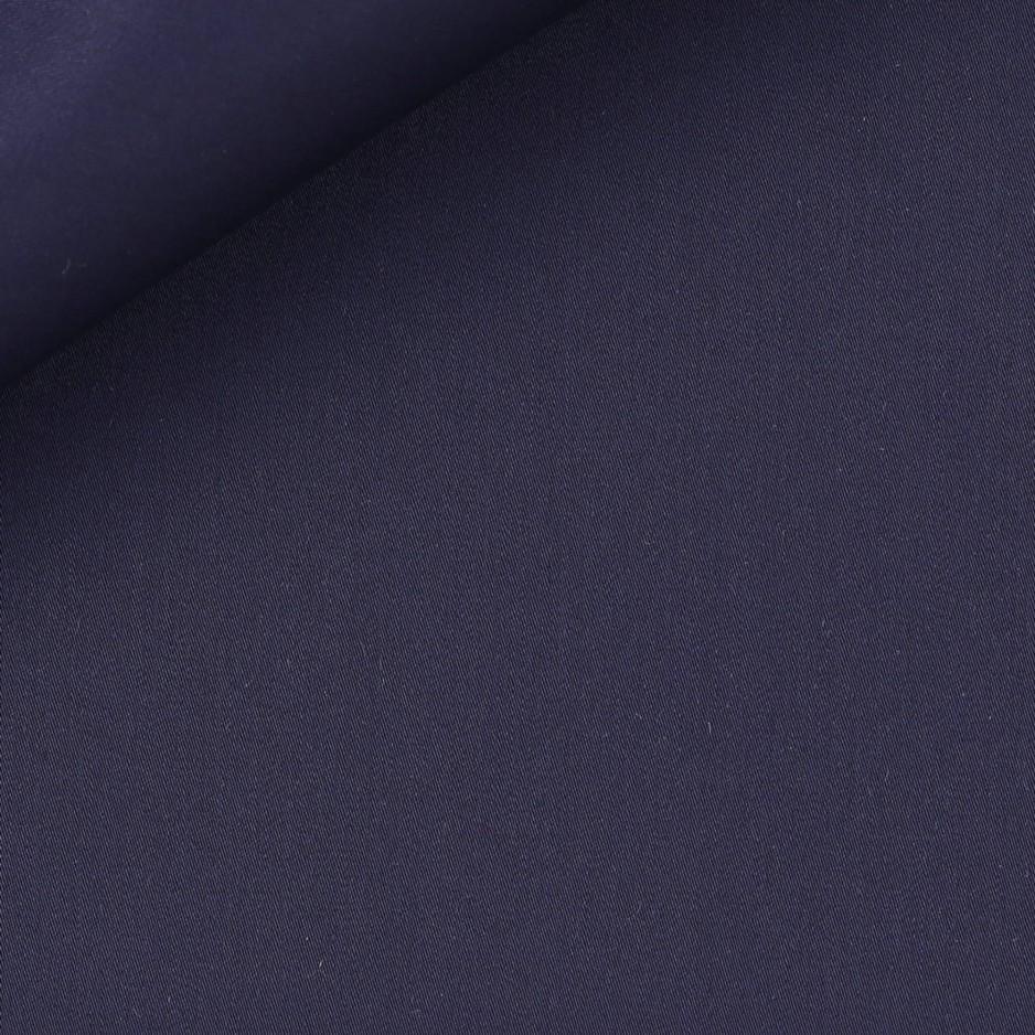 Satin Uni Bleu