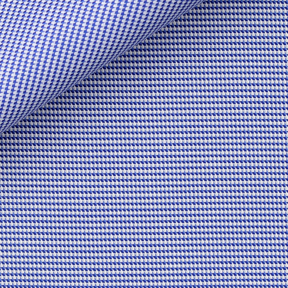 Dobby Carreaux Bleu (repassage facile)