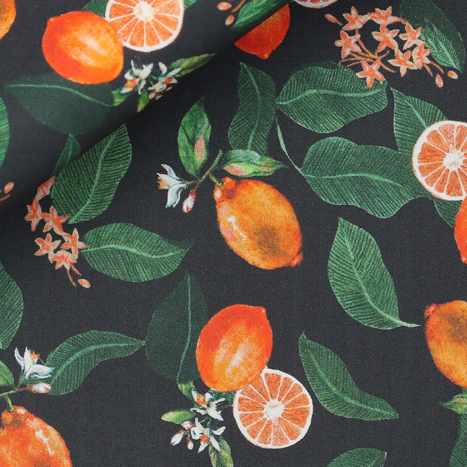 Popeline Motif Orange