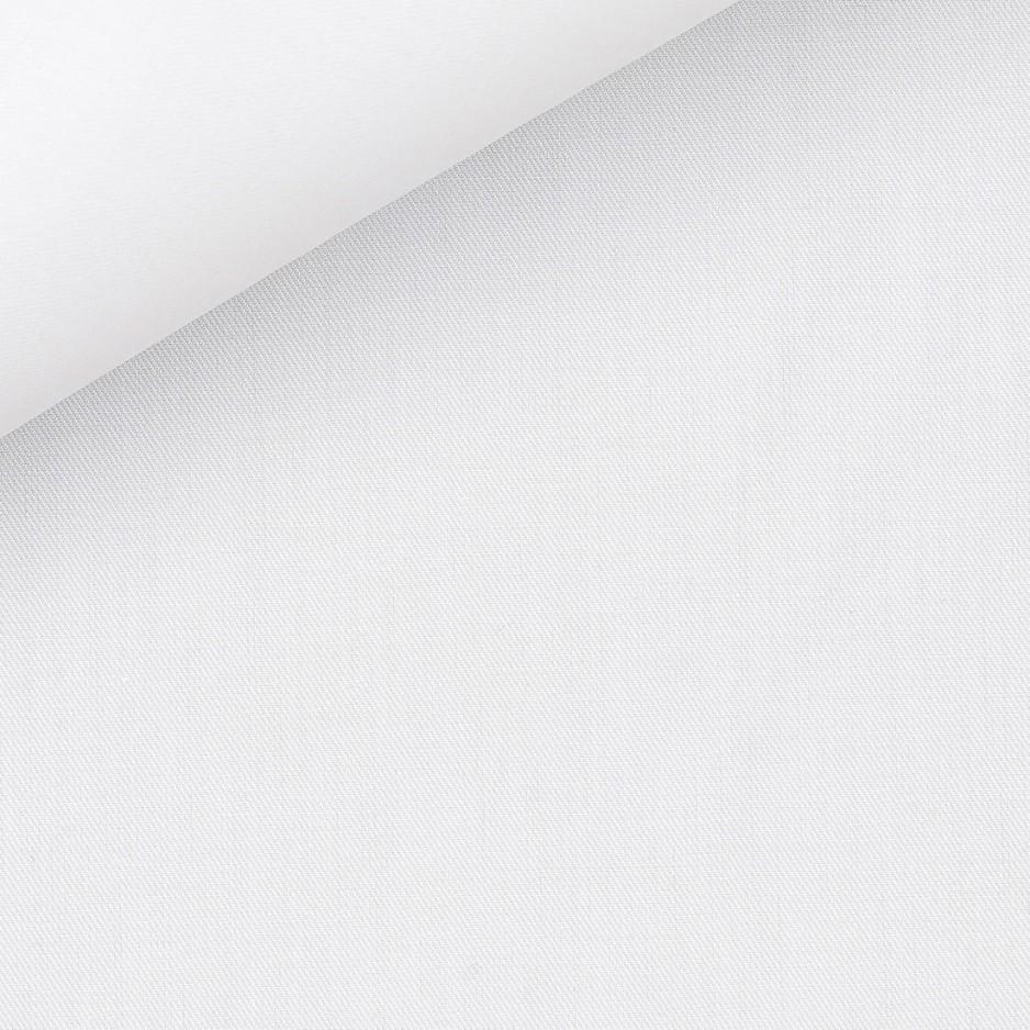 Twill Uni Blanc (repassage facile)