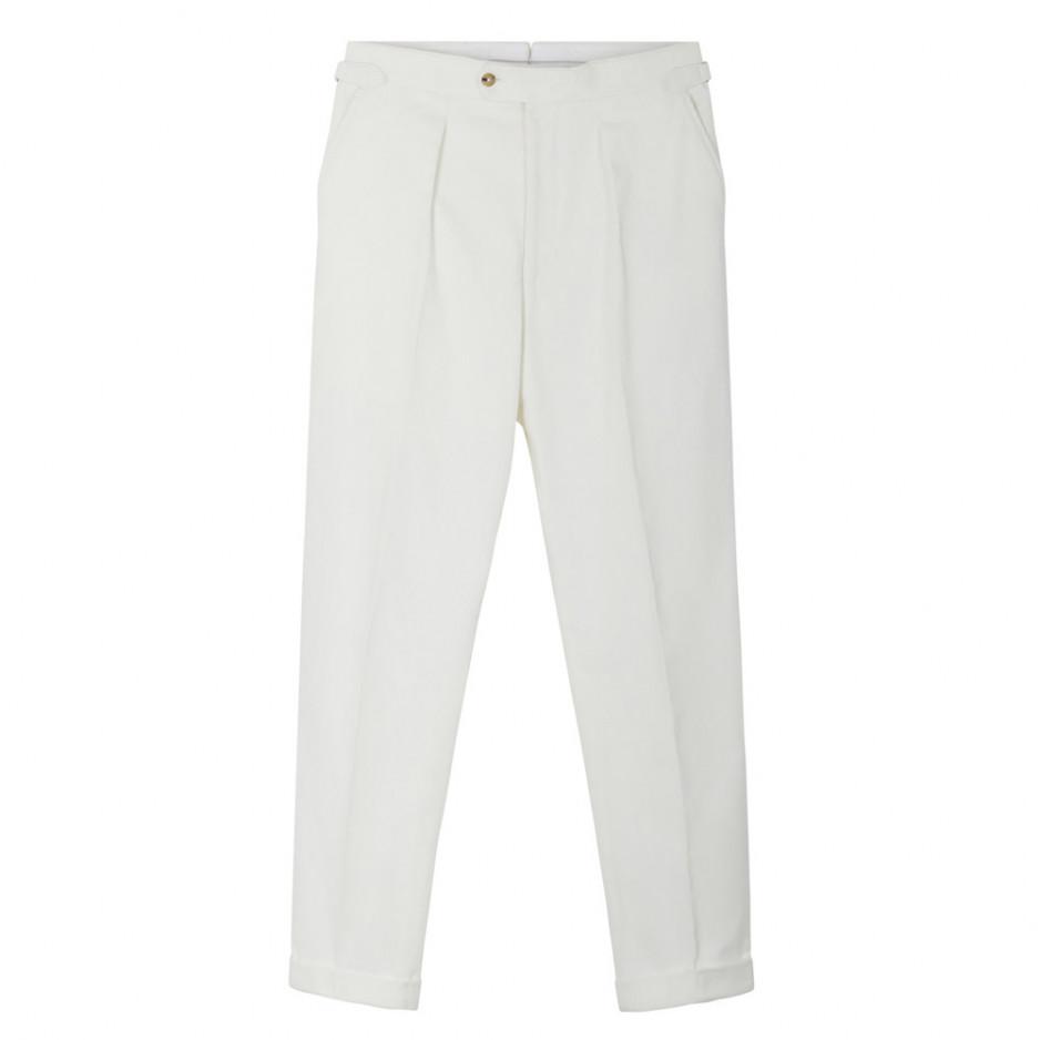 Pantalon velours cotelé blanc