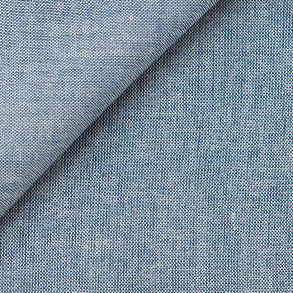 Chambray Uni Bleu Gris