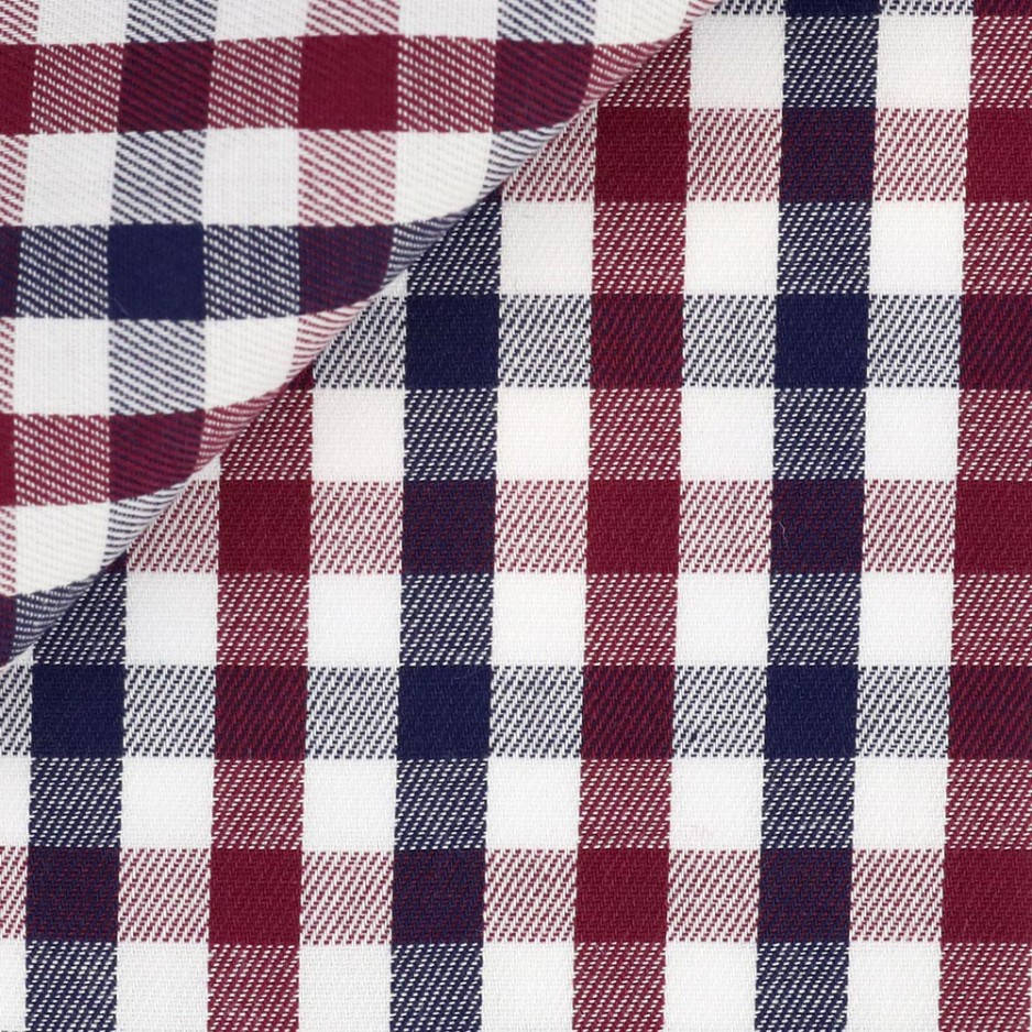 Twill Carreaux Rouge Bleu