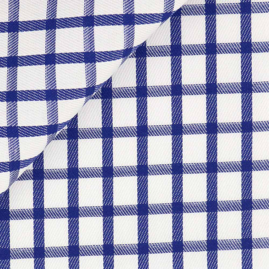 Twill Carreaux Bleu