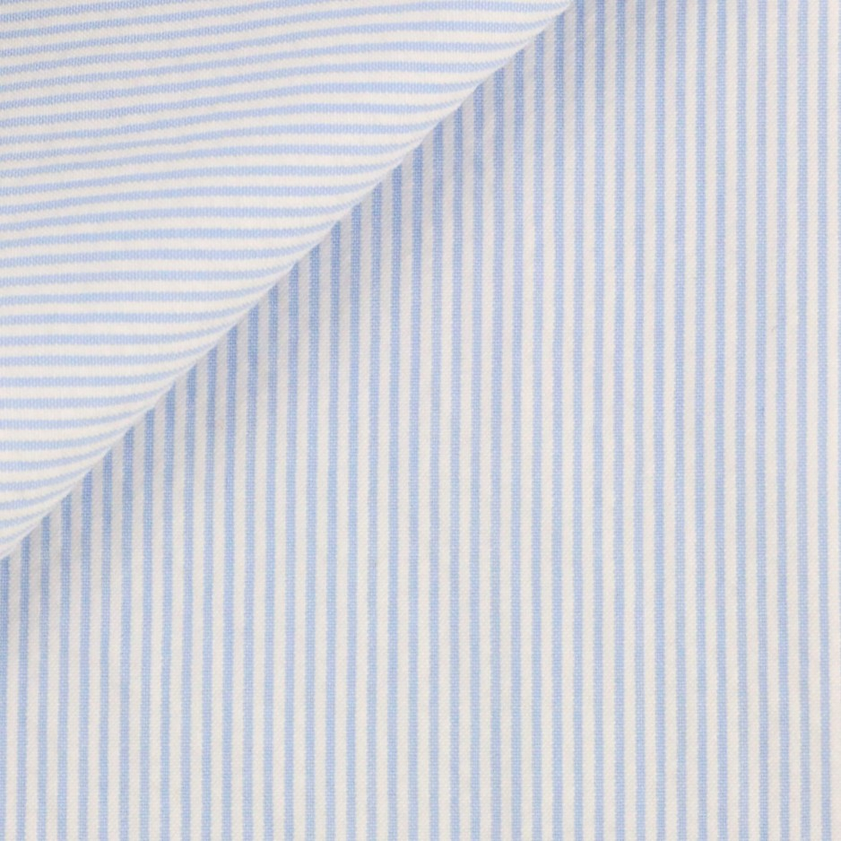 Seersucker Rayé Bleu