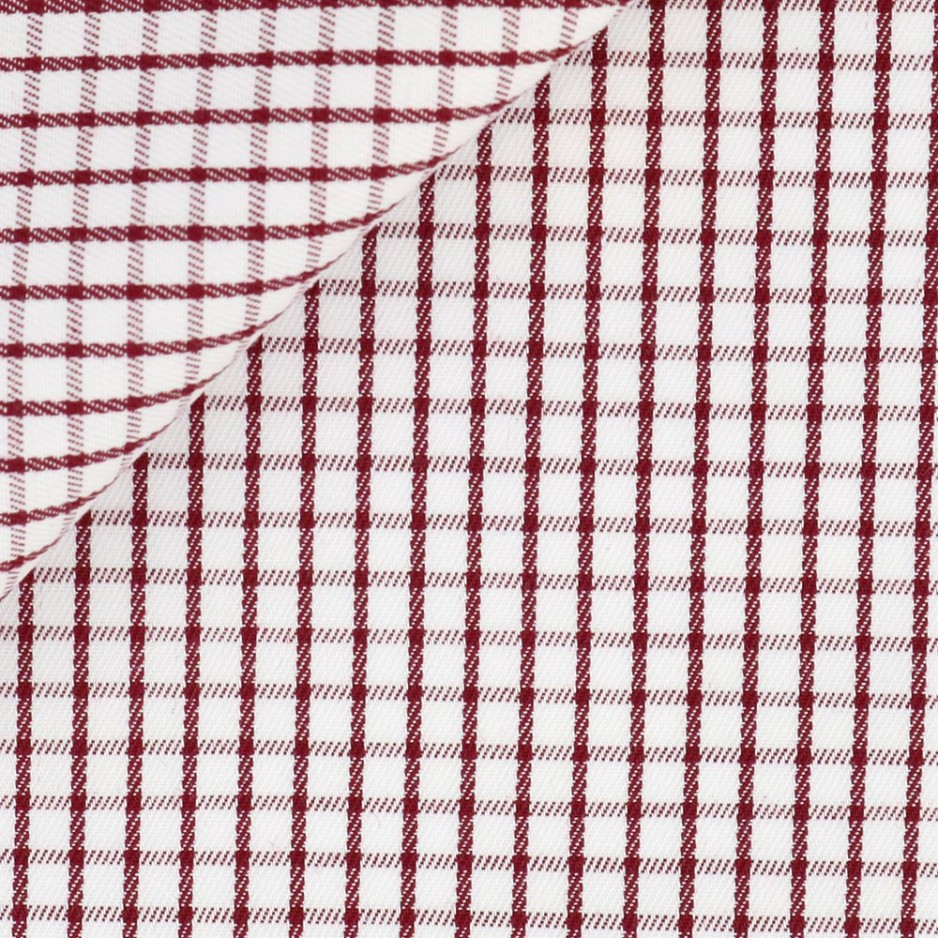Twill Carreaux Rouge