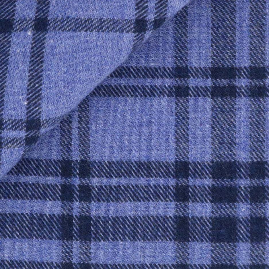 Flanelle Carreaux Bleu