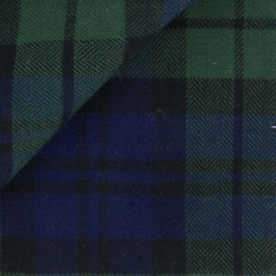 Flanelle Carreaux Bleu Vert