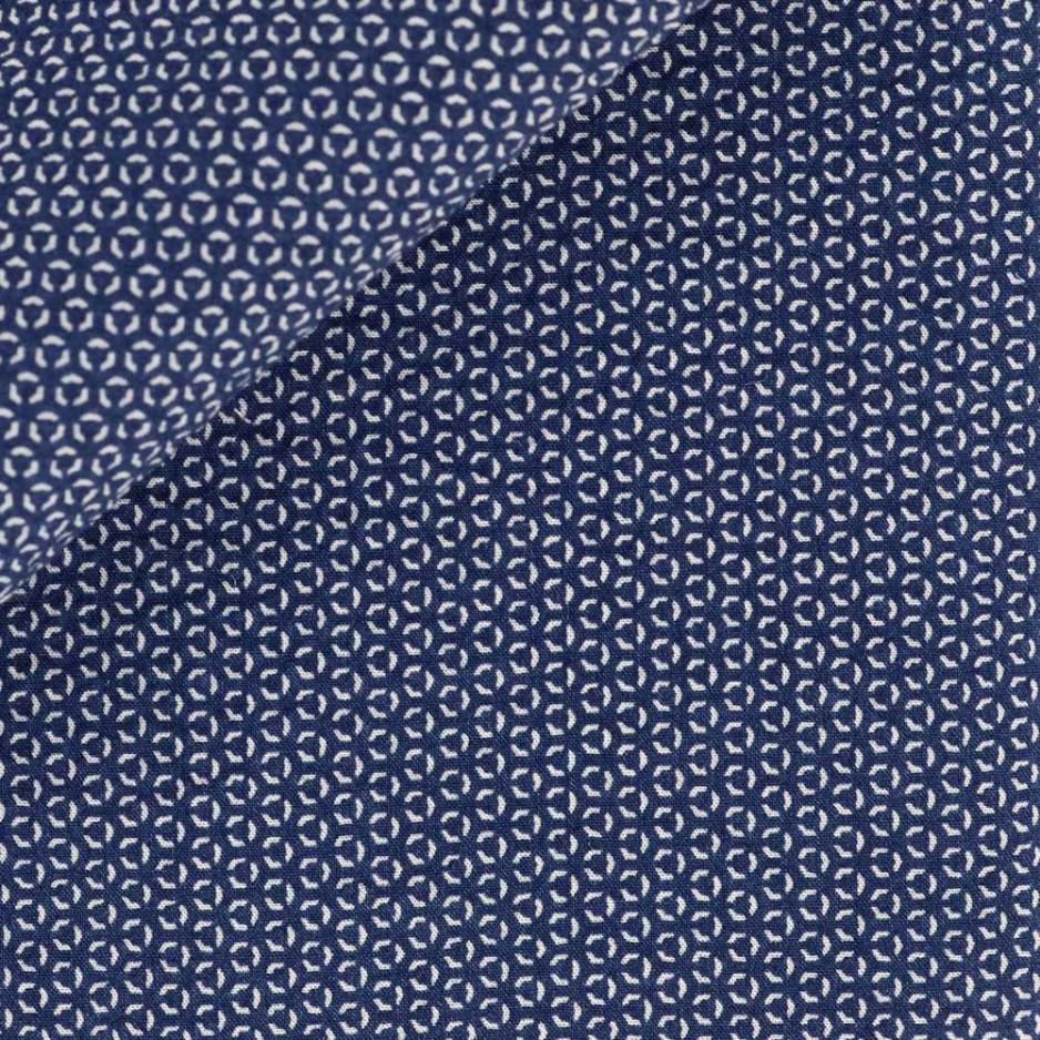 Seersucker Motif Bleu