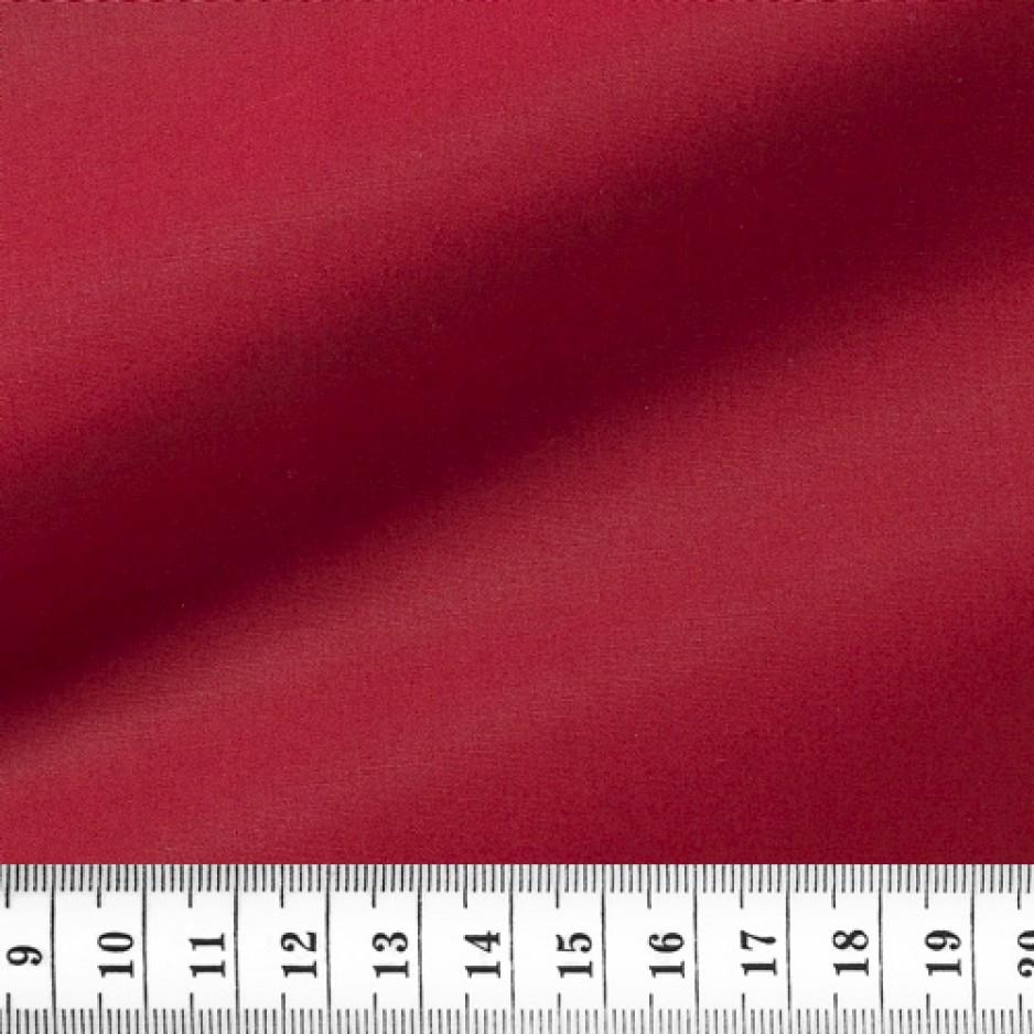 Chemise Popeline Uni Rouge
