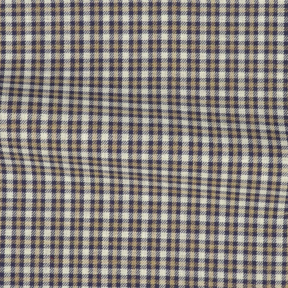 Twill Carreaux Bleu Gris