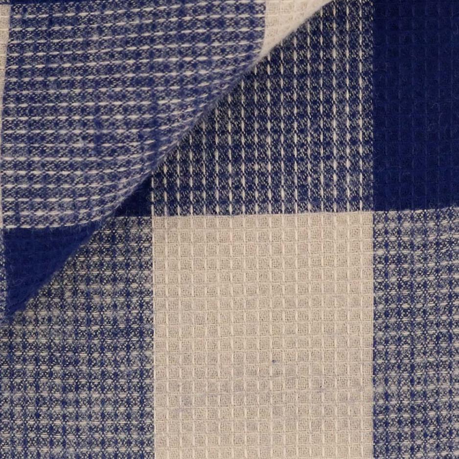 Flanelle Carreaux Bleu Beige