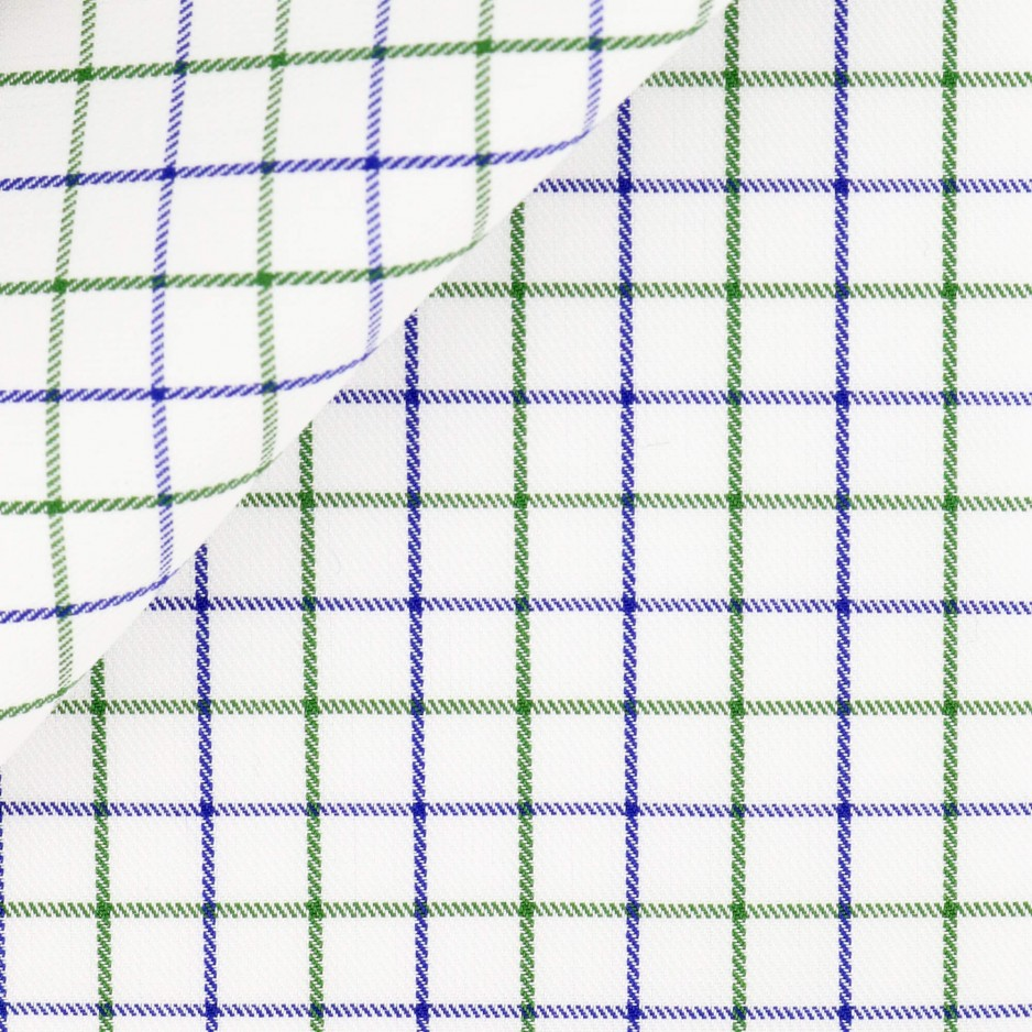 Twill Carreaux Violet Vert