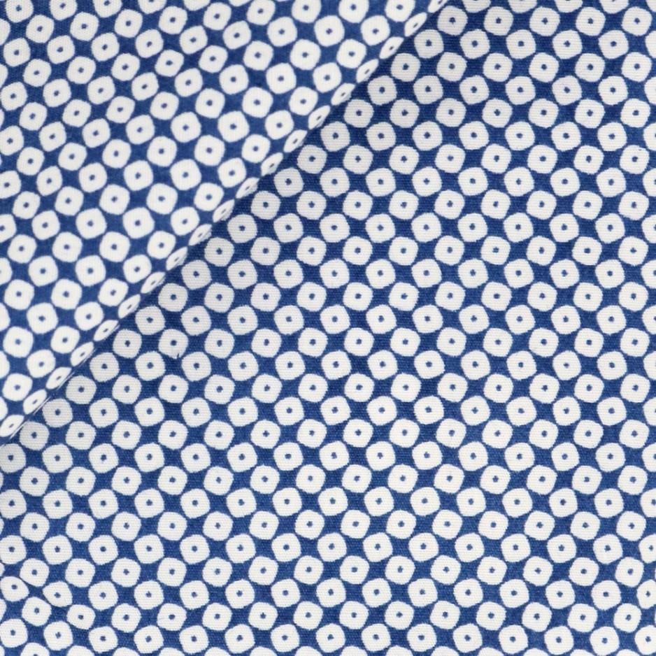 Popeline Motif Bleu