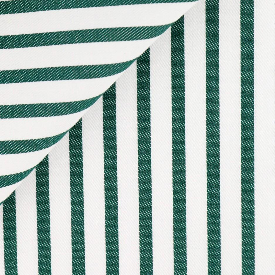 Twill Rayé Vert