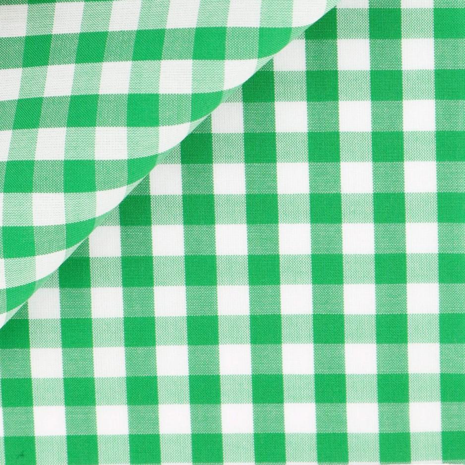 Popeline Carreaux Vert