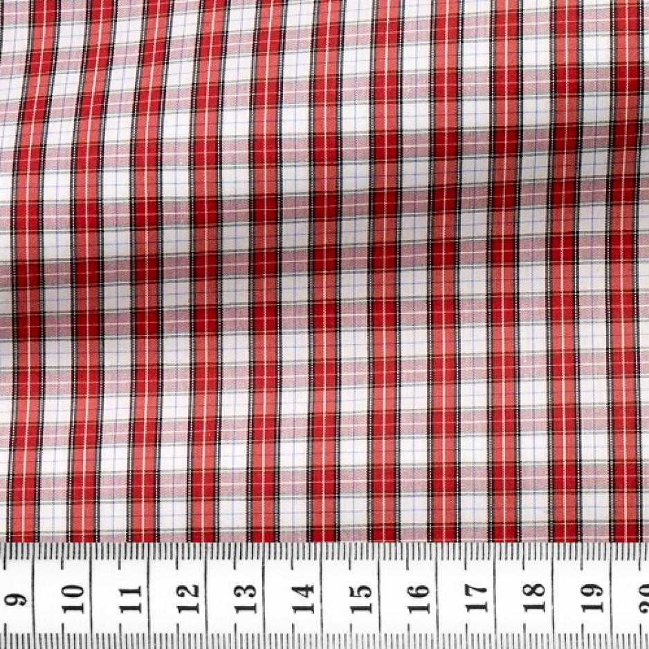 Popeline Carreaux Rouge Blanc