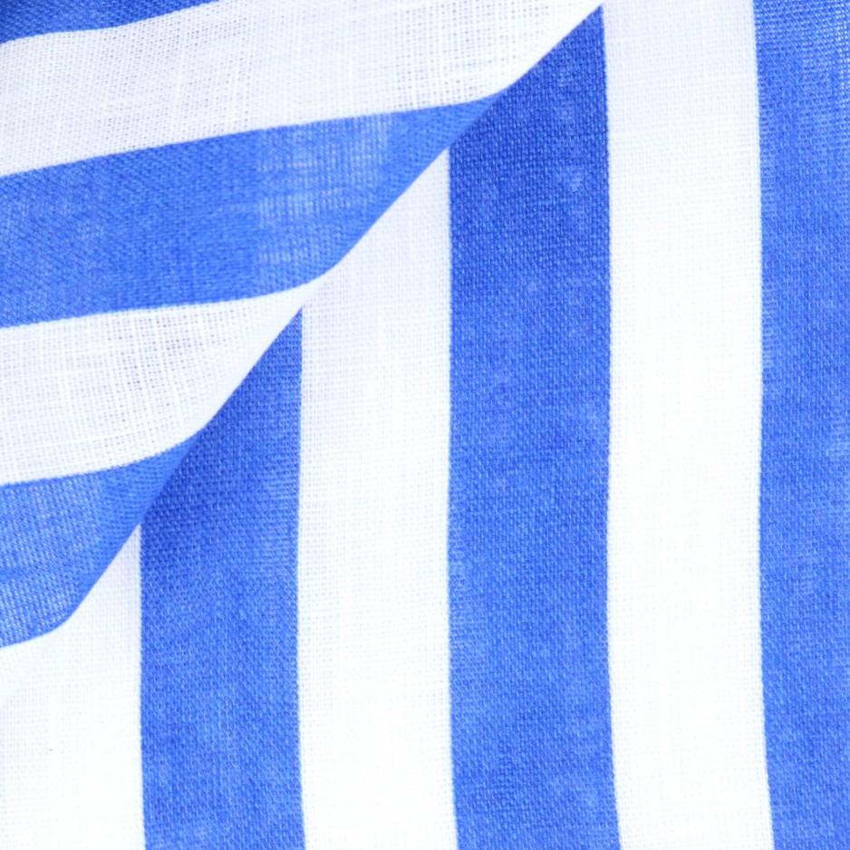 Lin Rayé Bleu