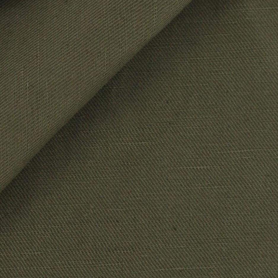 Tissu Coton/Lin Vert Olive