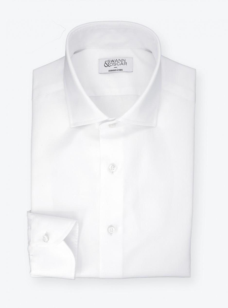 Chemise Twill Uni Blanc (repassage facile)
