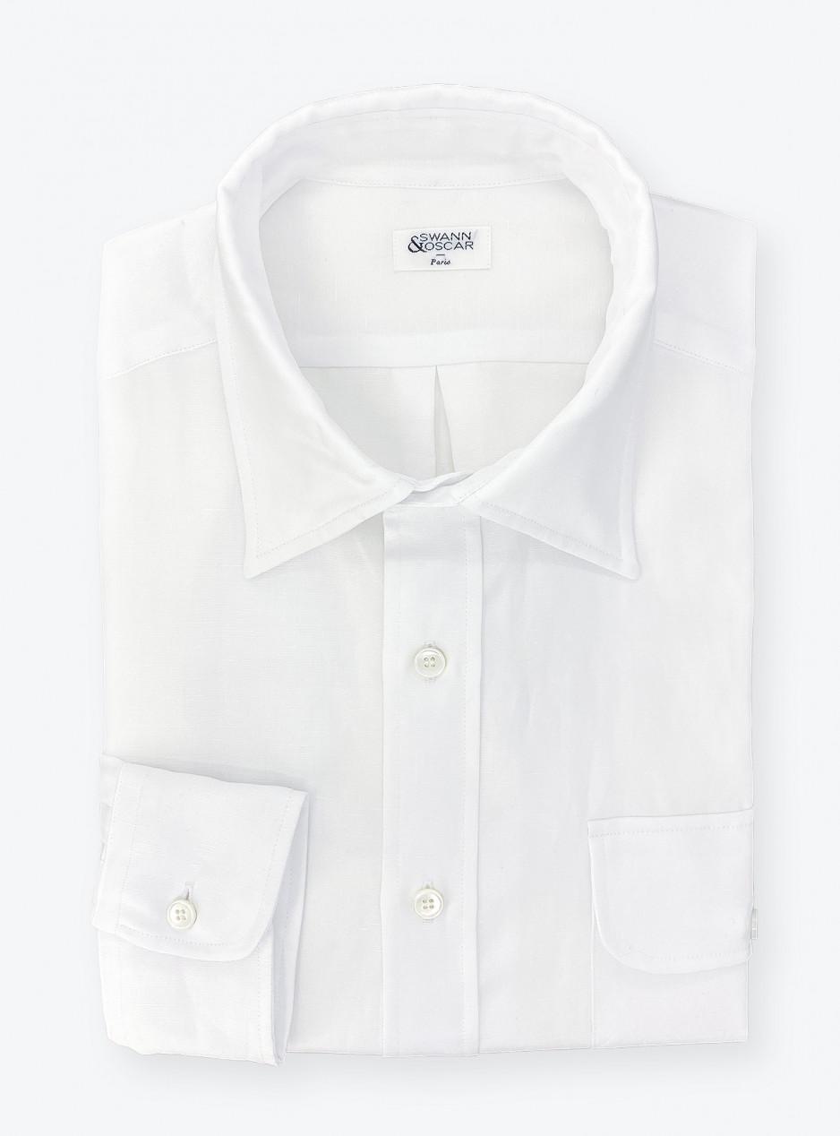 Chemise Coton / Lin Blanc