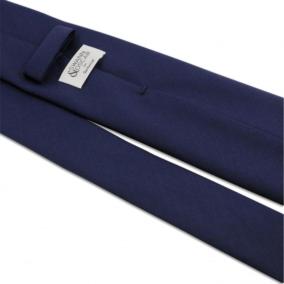 cravate bleue marine 7plis swann oscar. Black Bedroom Furniture Sets. Home Design Ideas
