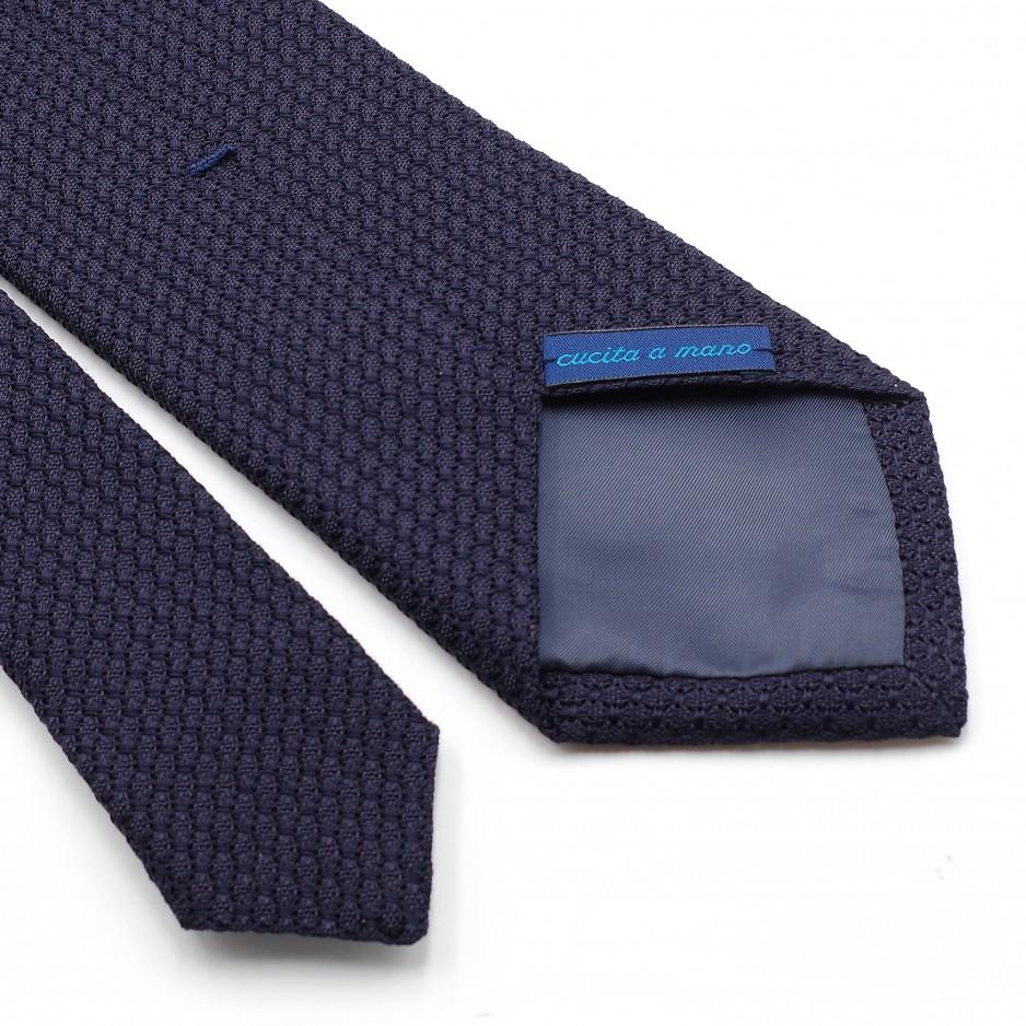 Cravate Bleue Grenadine de Soie « Garza Grossa»