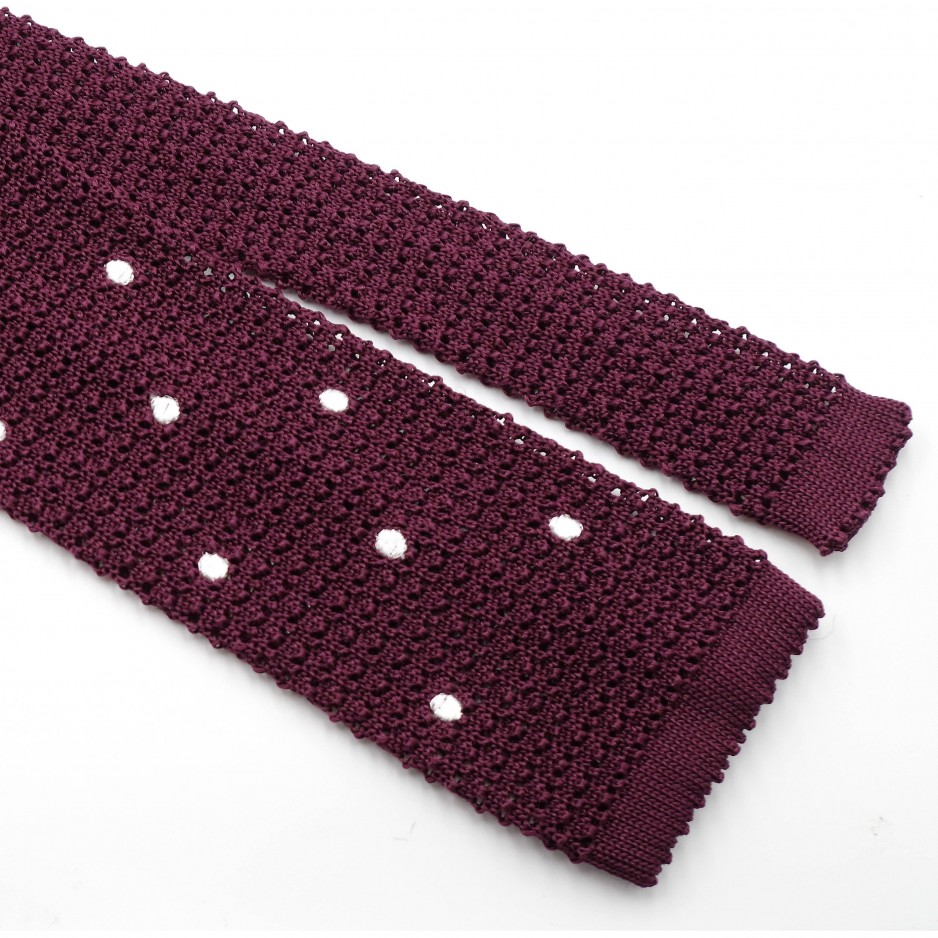 Cravate Bordeaux  Soie « Knit Tie »