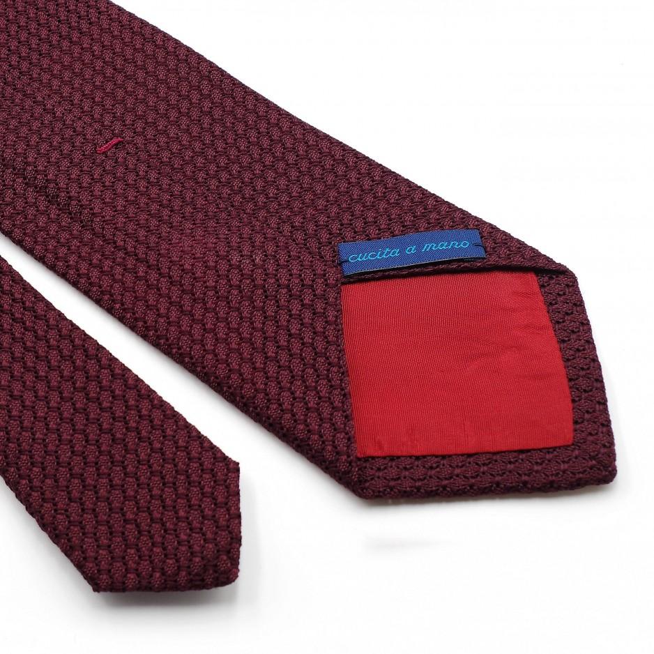 Cravate Bordeaux Grenadine de Soie « Garza Grossa»