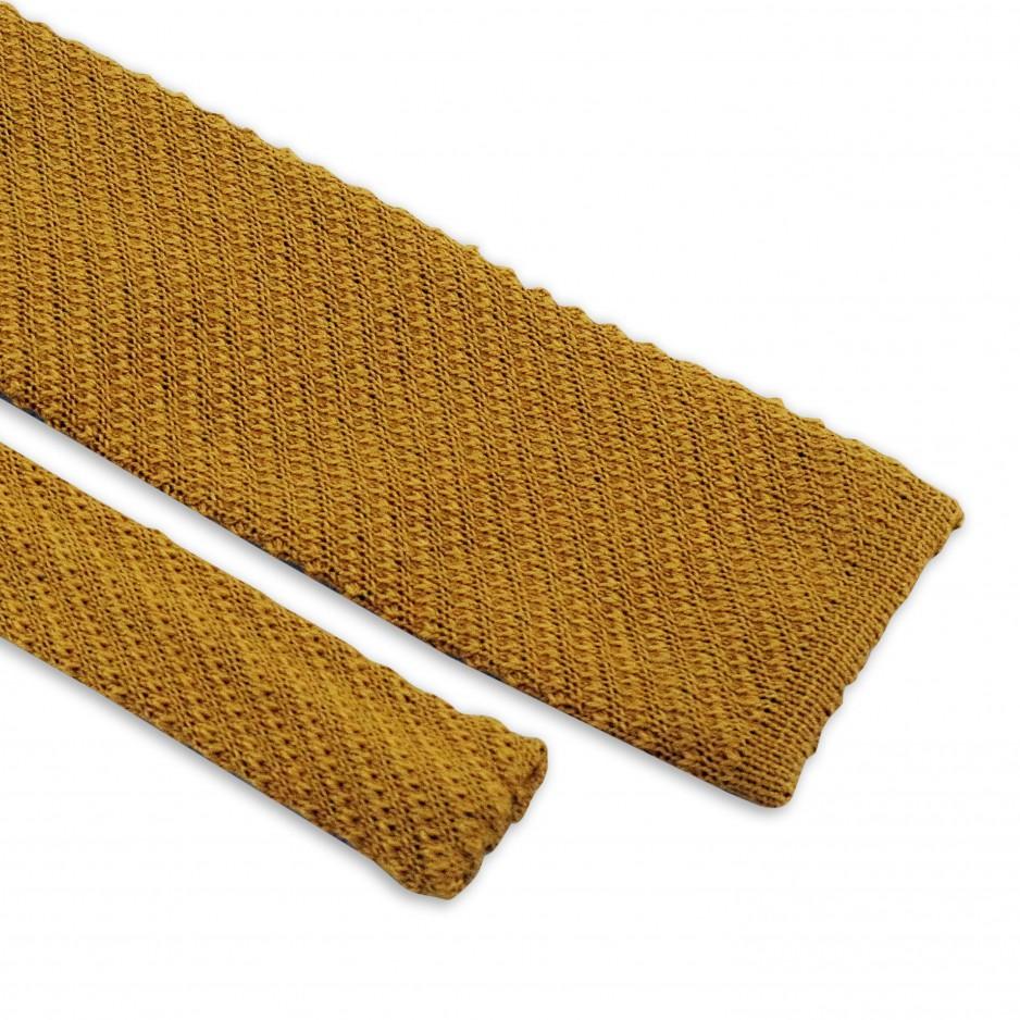 Cravate Jaune Tricot