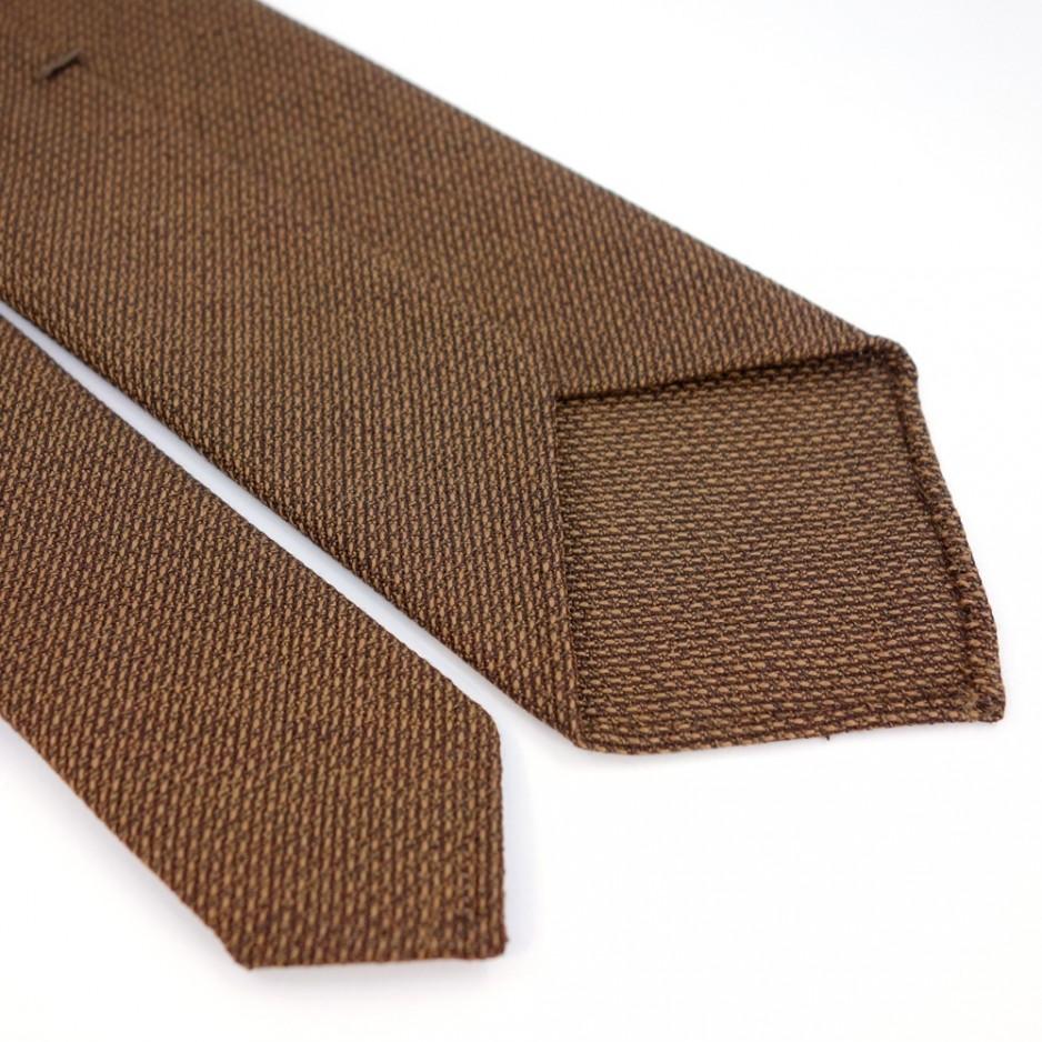 Cravate en laine faux-uni marron