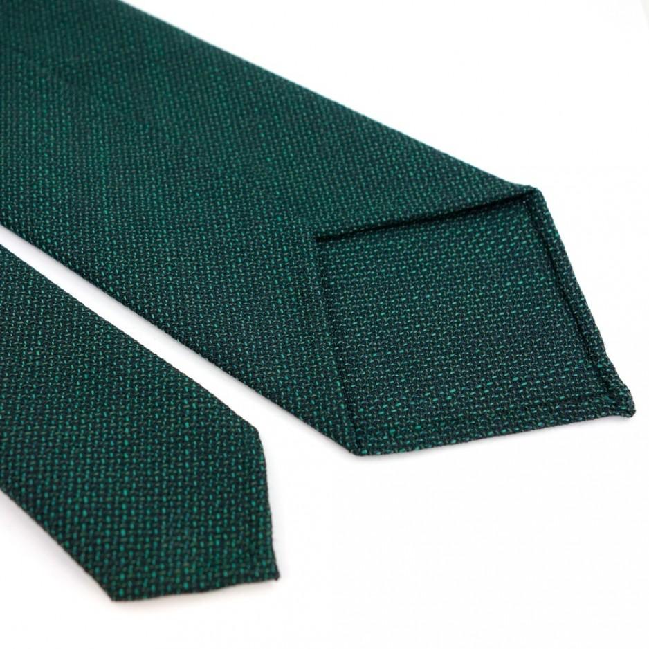 Cravate en laine faux-uni vert