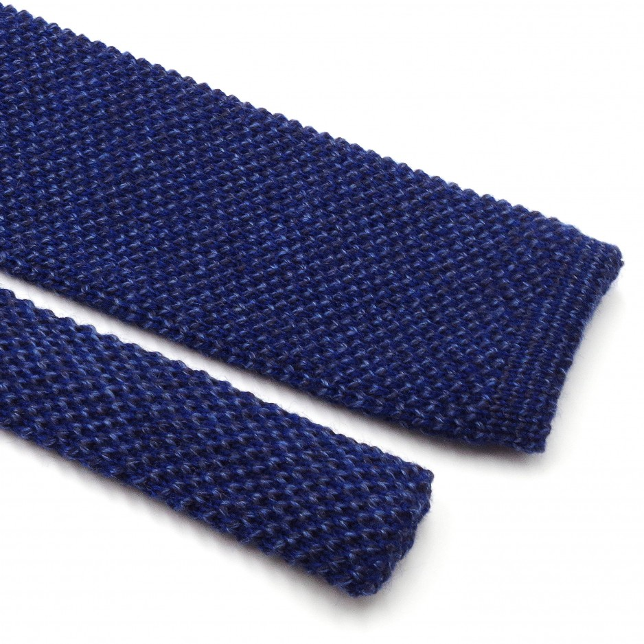 Cravate Tricot Mix Bleu