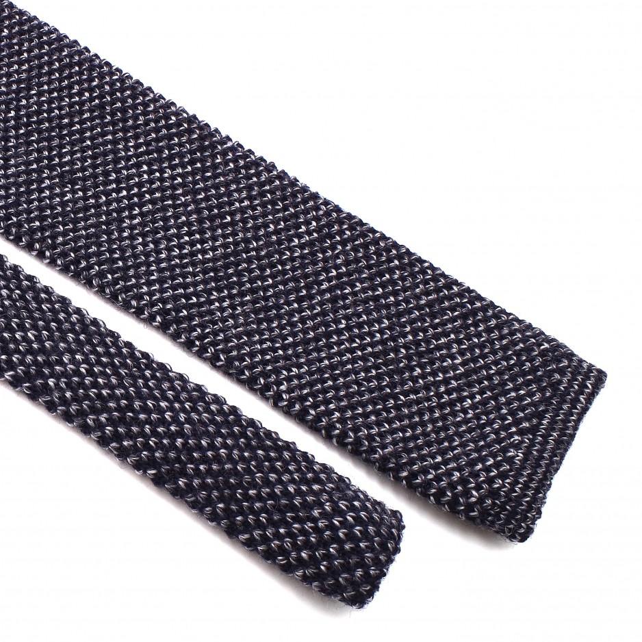 Cravate Grise Tricot Laine