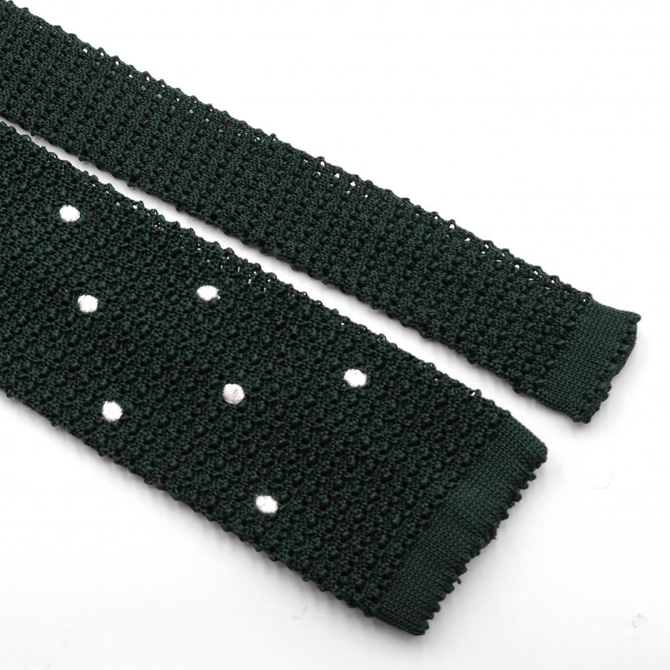 Cravate Verte Soie «Knit Tie»