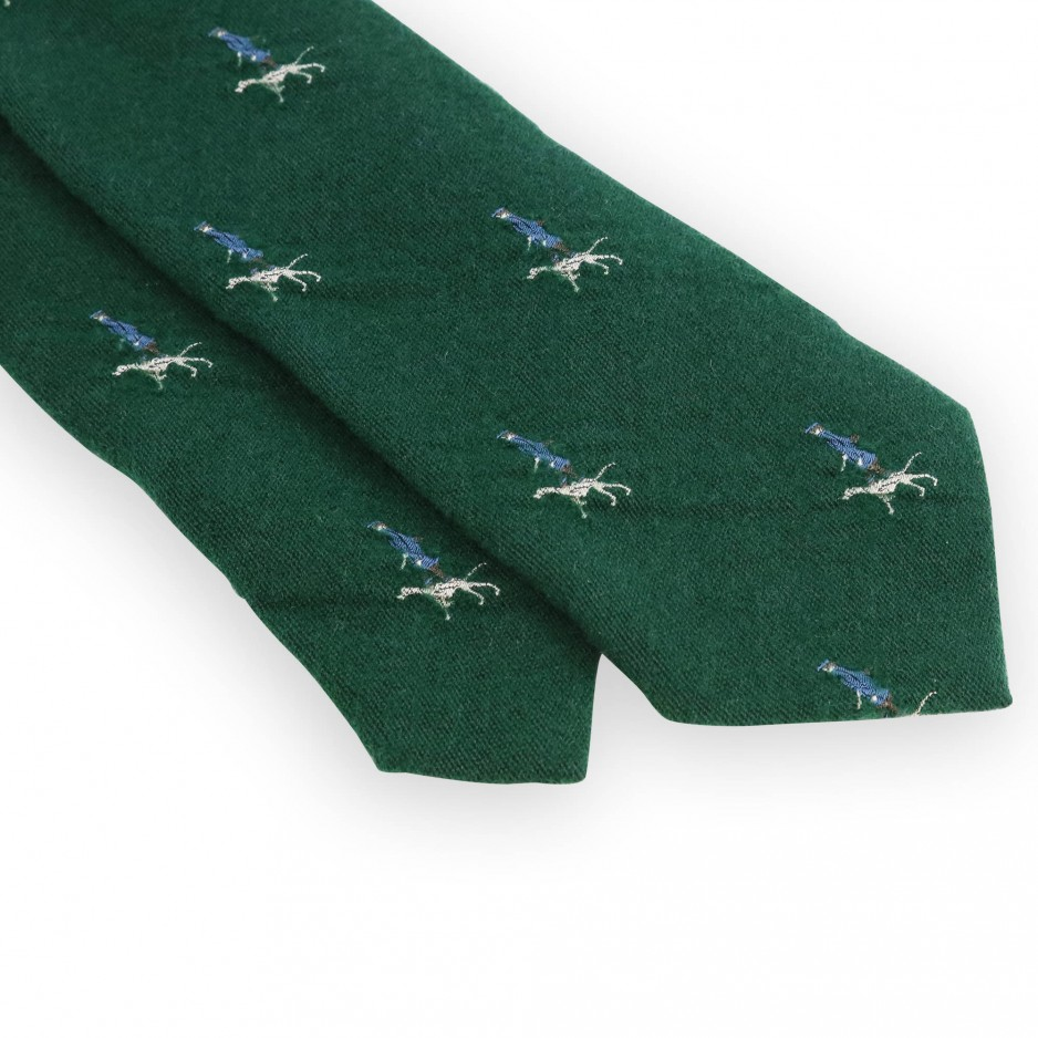 Cravate verte motifs chasseur