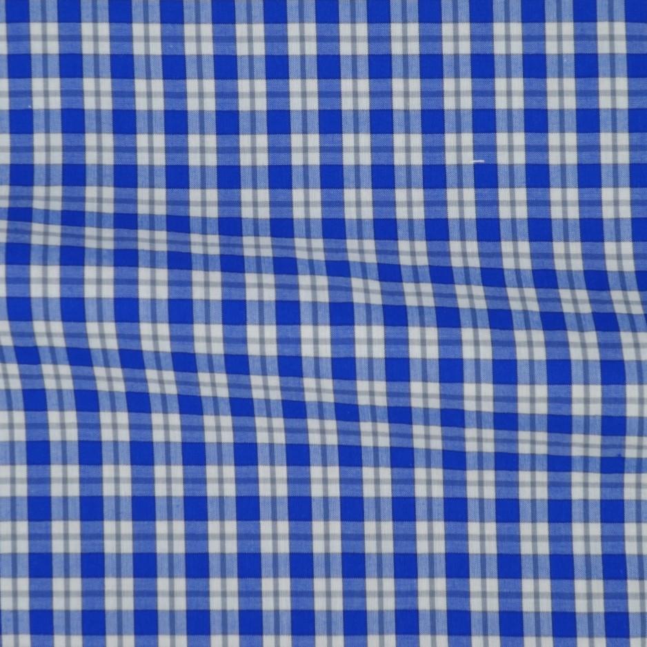 Chambray Carreaux Bleu