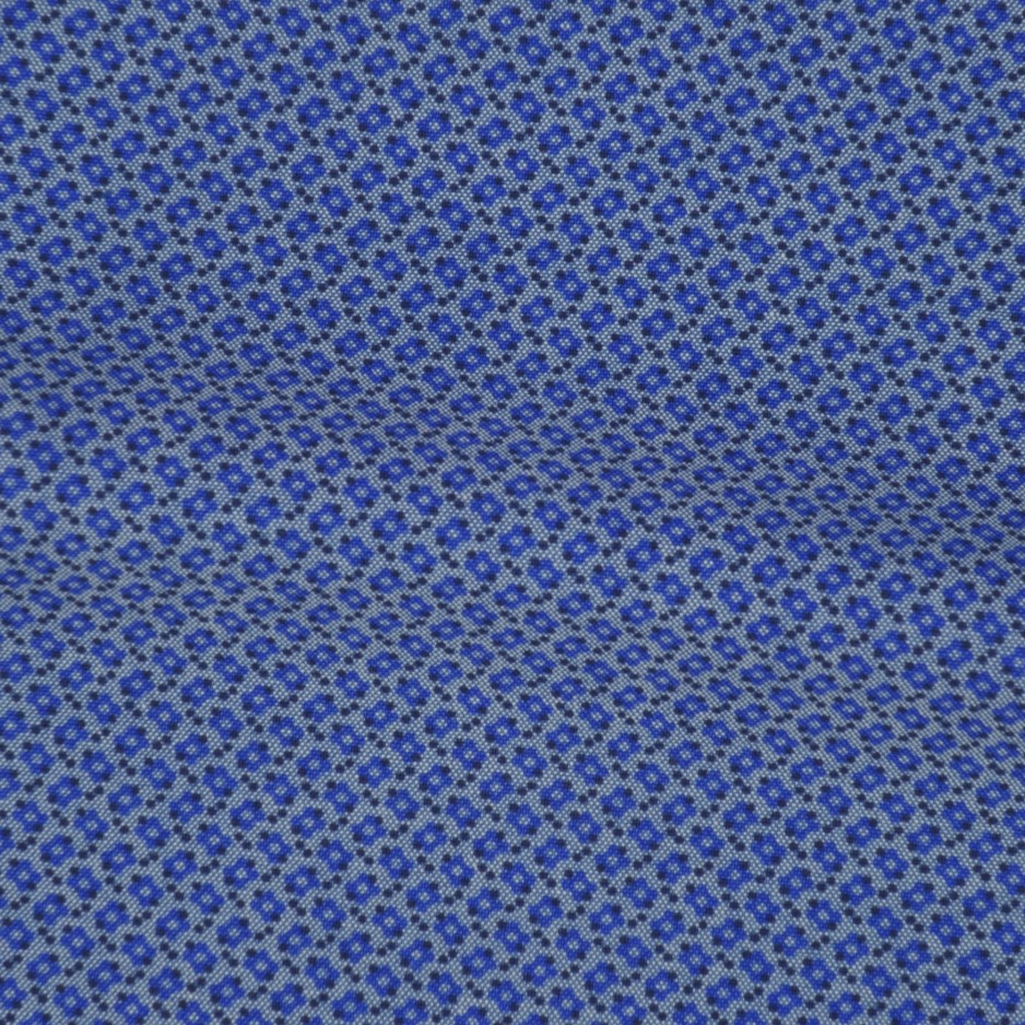 Chambray Motif Bleu