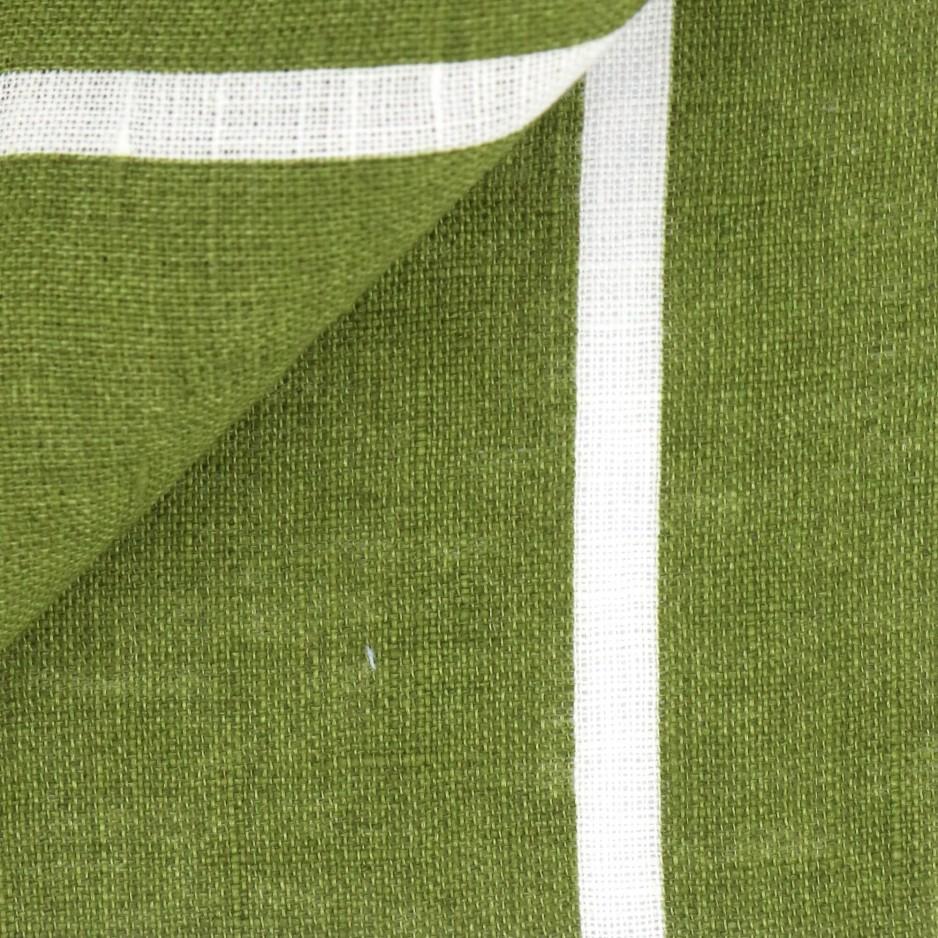 Lin Rayé Vert