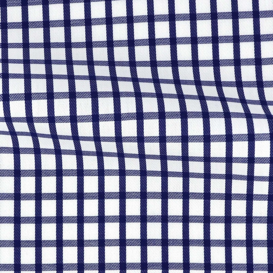 Twill Carreaux Bleu