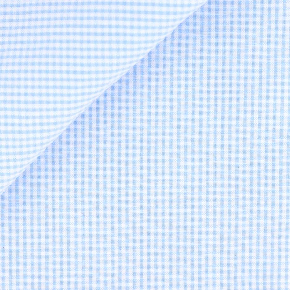 Seersucker Carreaux Bleu