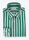 Chemise Butcher Stripes Lin Vert