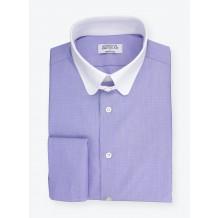 Chemise Fil à Fil Uni Bleu
