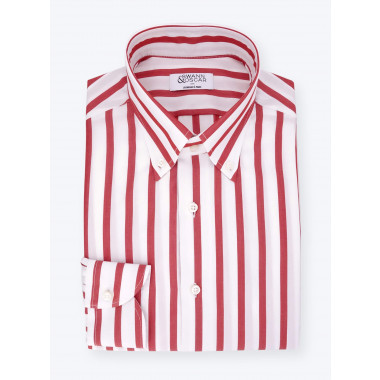 Chemise Butcher Stripes Rouge