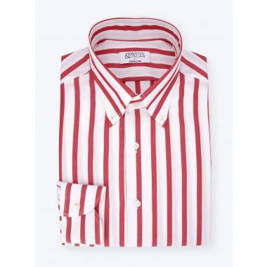 Chemise Butcher Stripes Rouge