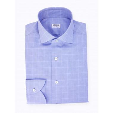 Chemise Prince de Galles Bleu