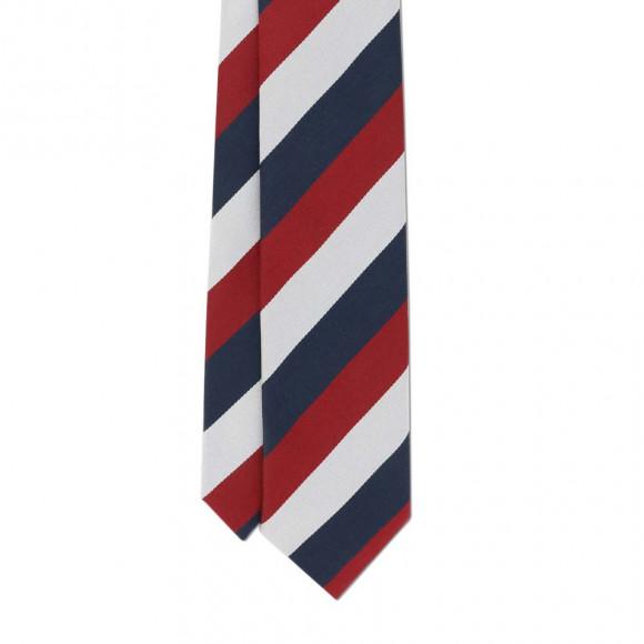 Cravate Club Bleu Rouge Blanc
