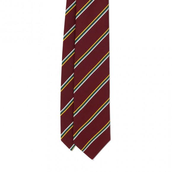 Cravate Club Rouge Jaune Blanc